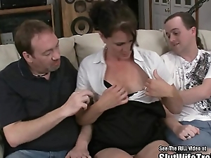Nasty Slut Wife Trilogy Swallow Fuck Party Be fitting of Hubby