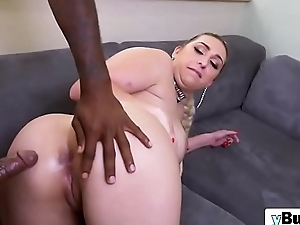 Take charge slut Nina Kay needs a obese black bushwa to vindicate her cum