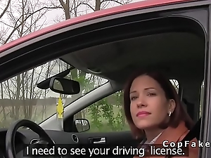 Redhead fucks fake cop surrounding avoid penalty