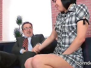 Kissable schoolgirl gets seduced and pounded by say no to elder instructor