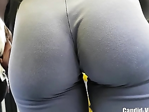 Gorgeous sexy artless beauty in tight spandex