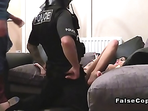 Fake cop has triad woth costumed couple