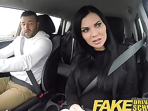 Fake Driving School lucky young small fry seduced by his busty milf examiner