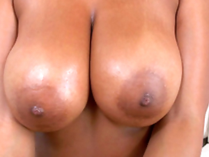 Katt Garcia playing with her big juicy titties