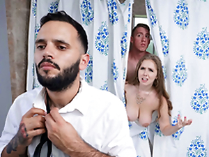 Trimmed Housewife Blows Stepson - Lena Paul In the porn scene