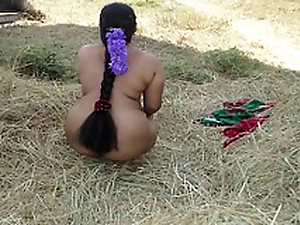 Indian wife open-air sex