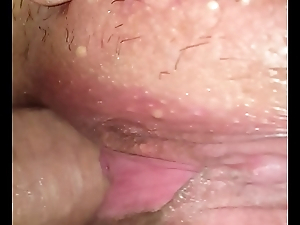 Inserting my cock into my BBW wife'_s tight wet cookie